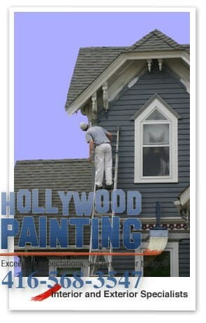 Painting exterior on dormer