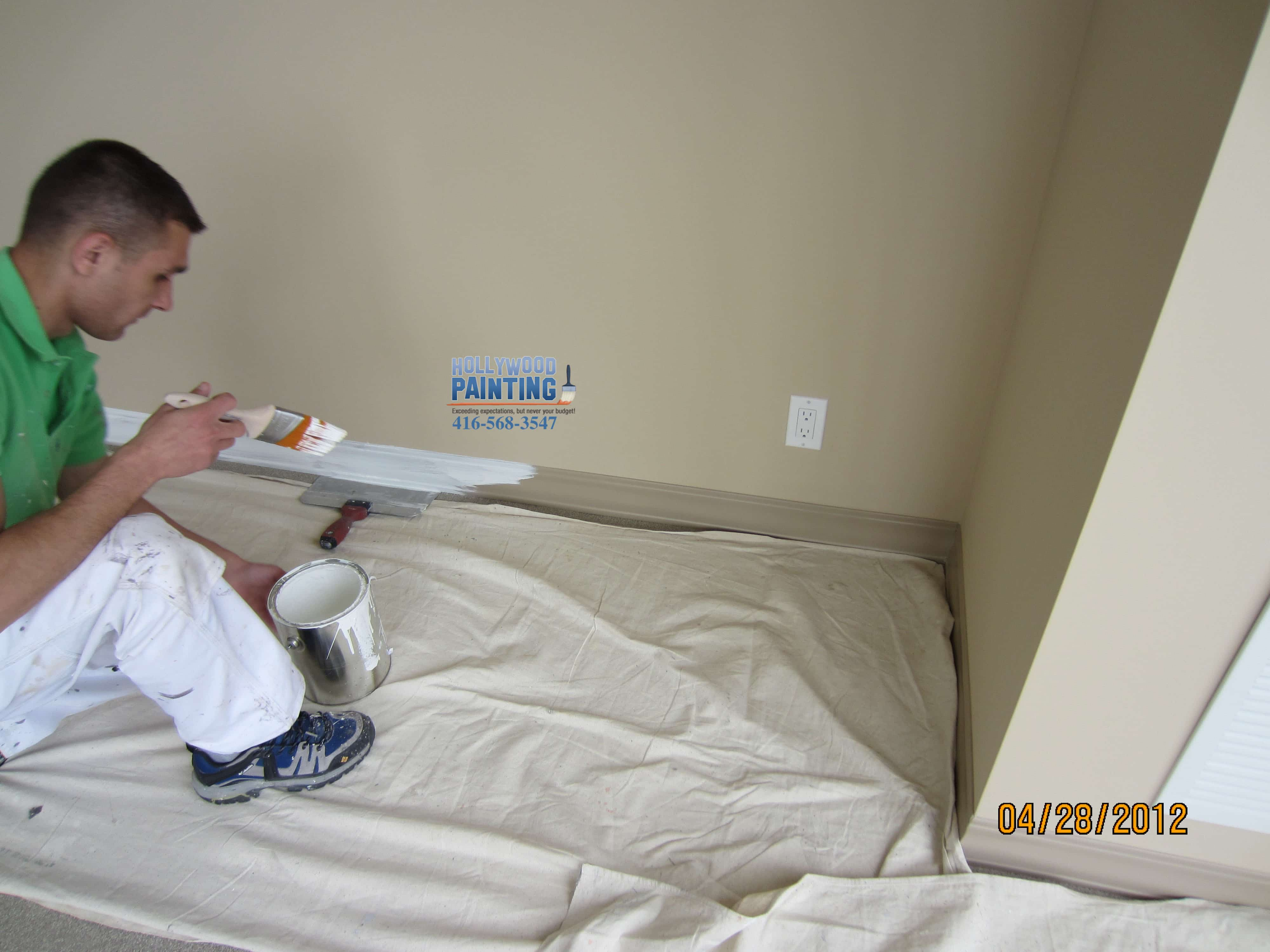 condo painting baseboards