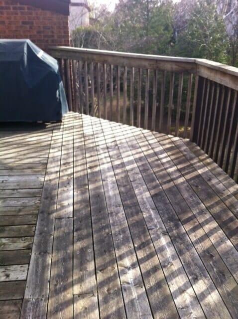 Cedar deck boards needs replacing