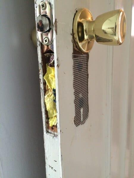 broken door knob