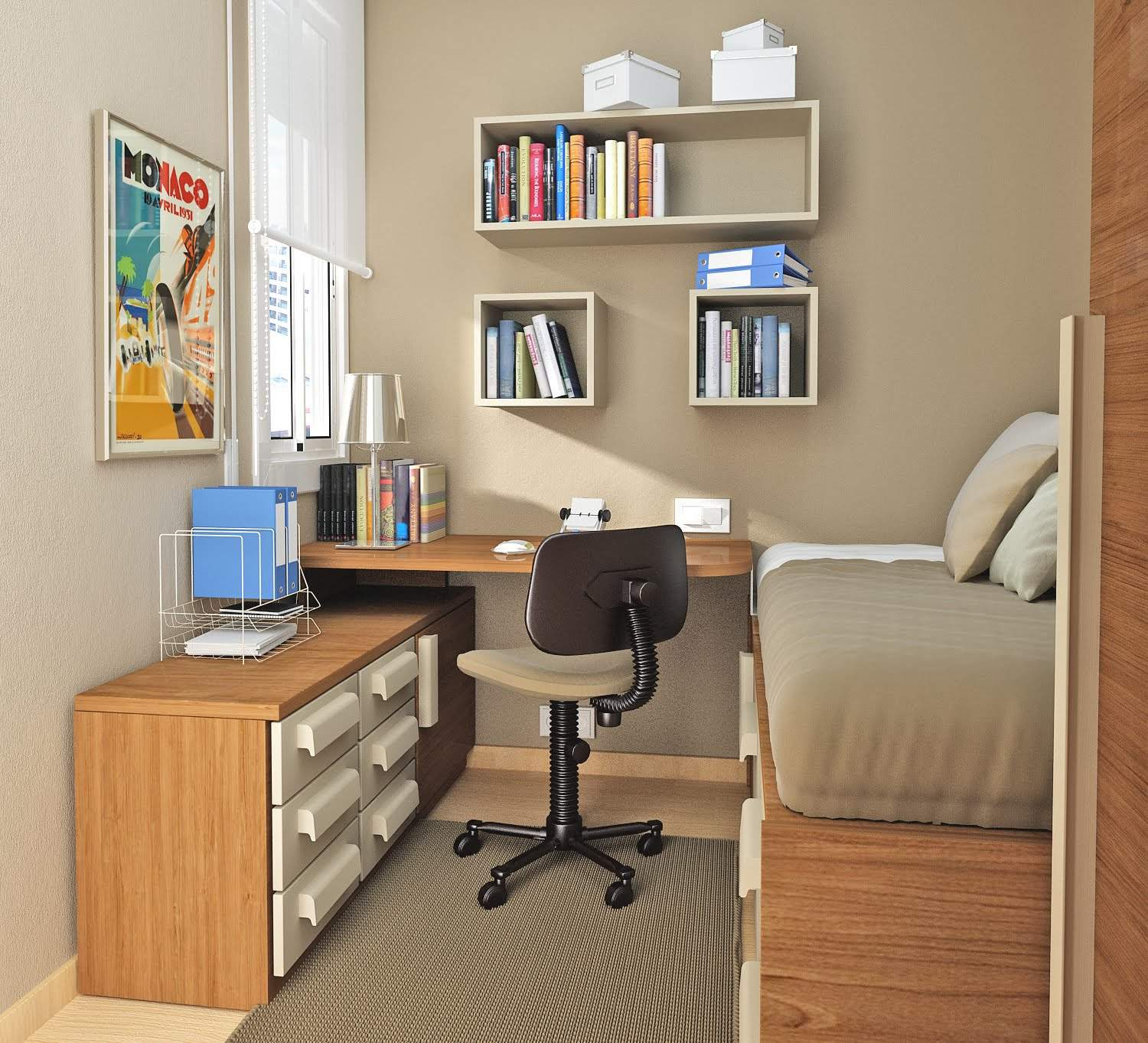 Storage space saves clutter