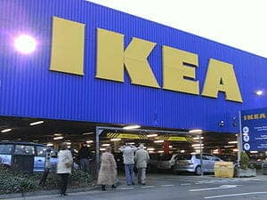 The Ikea multistory car park at Ikea, Birstall...
