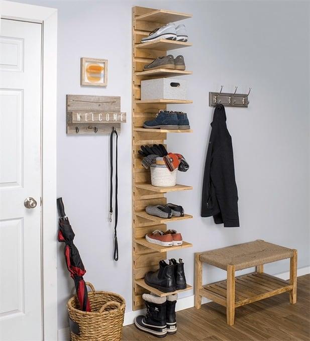 Mississauga carpentry custom shoe organizer DIY