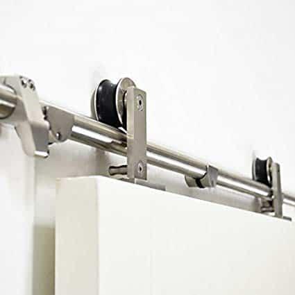 Stainless steel barn door hardware