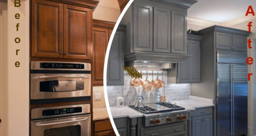 Kitchen cabinet refacing / Painting kitchen cabinets
